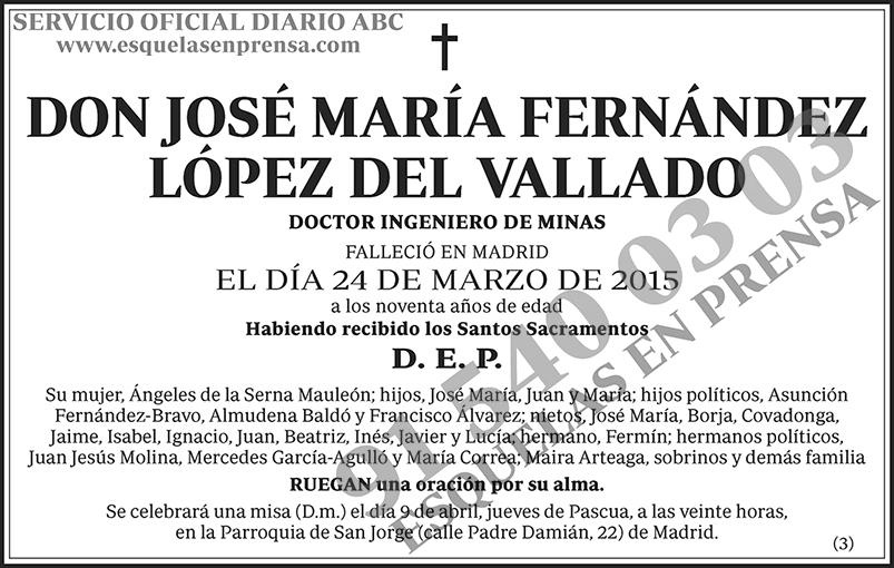José María Fernández López del Vallado